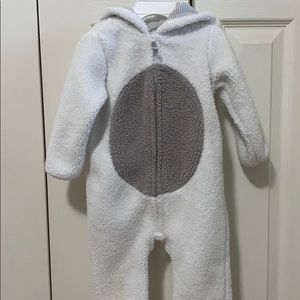 Bear snowsuit/ cold suit with hood